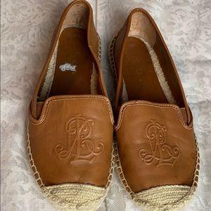 Ralph Lauren leather espadrilles -size 6